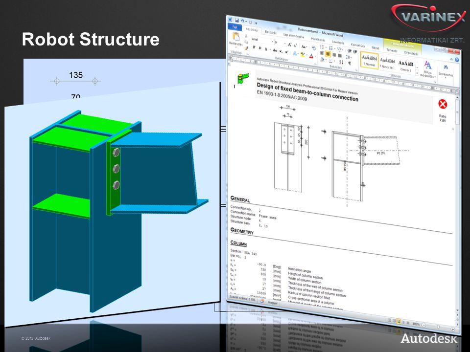 © 2012 Autodesk Robot Structure