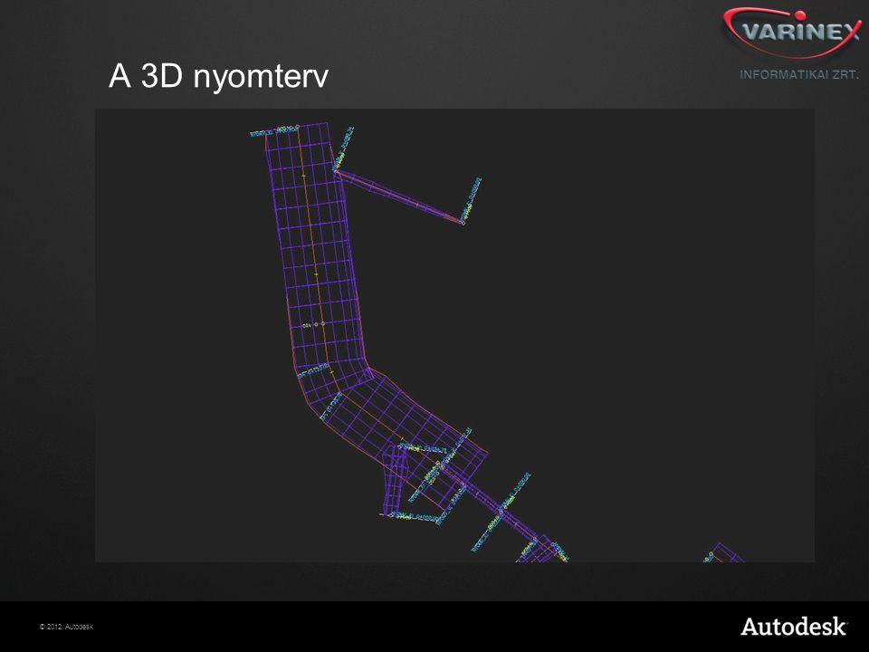 © 2012 Autodesk A 3D nyomterv