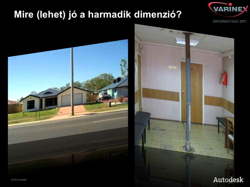 © 2012 Autodesk Mire (lehet) jó a harmadik dimenzió?