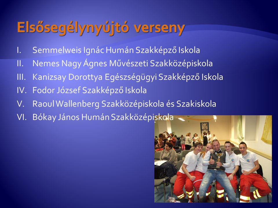 I.Semmelweis Ignác Humán Szakképző Iskola II.Nemes Nagy Ágnes Művészeti Szakközépiskola III.Kanizsay Dorottya Egészségügyi Szakképző Iskola IV.Fodor J