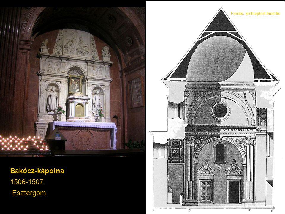 Bakócz-kápolna 1506-1507. Esztergom Forrás: arch.eptort.bme.hu