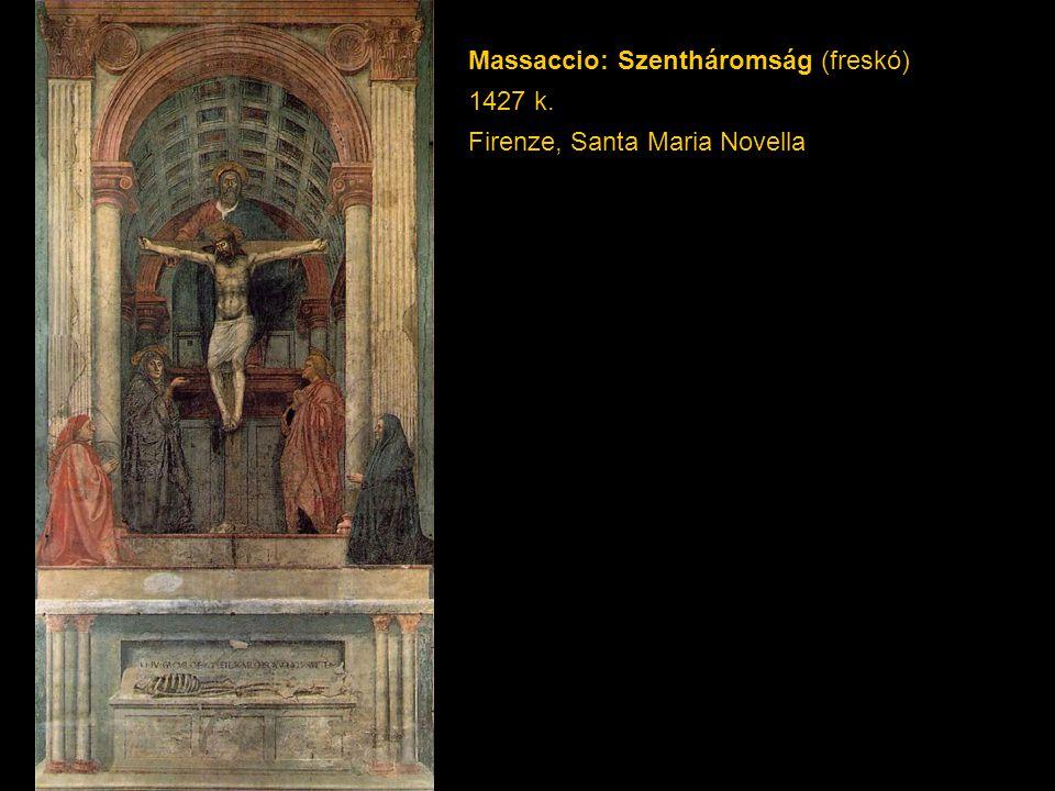 Massaccio: Szentháromság (freskó) 1427 k. Firenze, Santa Maria Novella