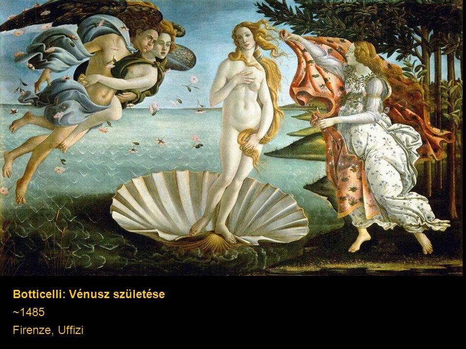 Botticelli: Vénusz születése ~1485 Firenze, Uffizi