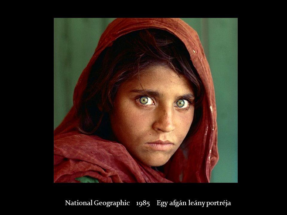National Geographic 1985 Egy afgán leány portréja