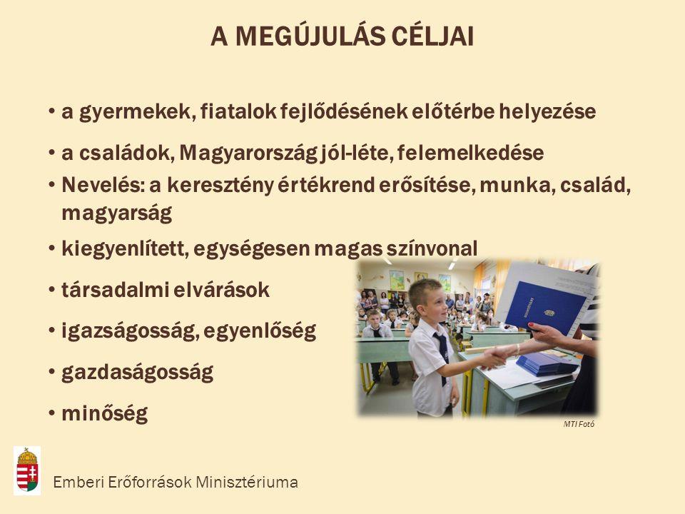 • a gyermekek, fiatalok fejlődésének előtérbe helyezése • a családok, Magyarország jól-léte, felemelkedése • Nevelés: a keresztény értékrend erősítése