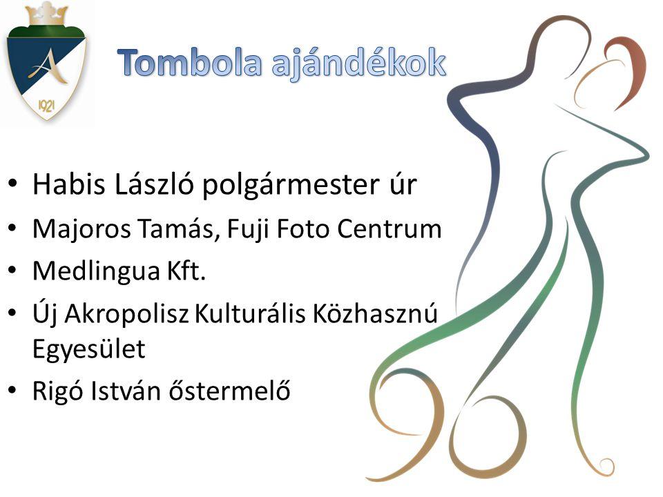 • Habis László polgármester úr • Majoros Tamás, Fuji Foto Centrum • Medlingua Kft.