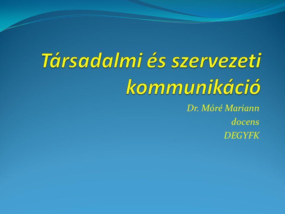 Dr. Móré Mariann docens DEGYFK