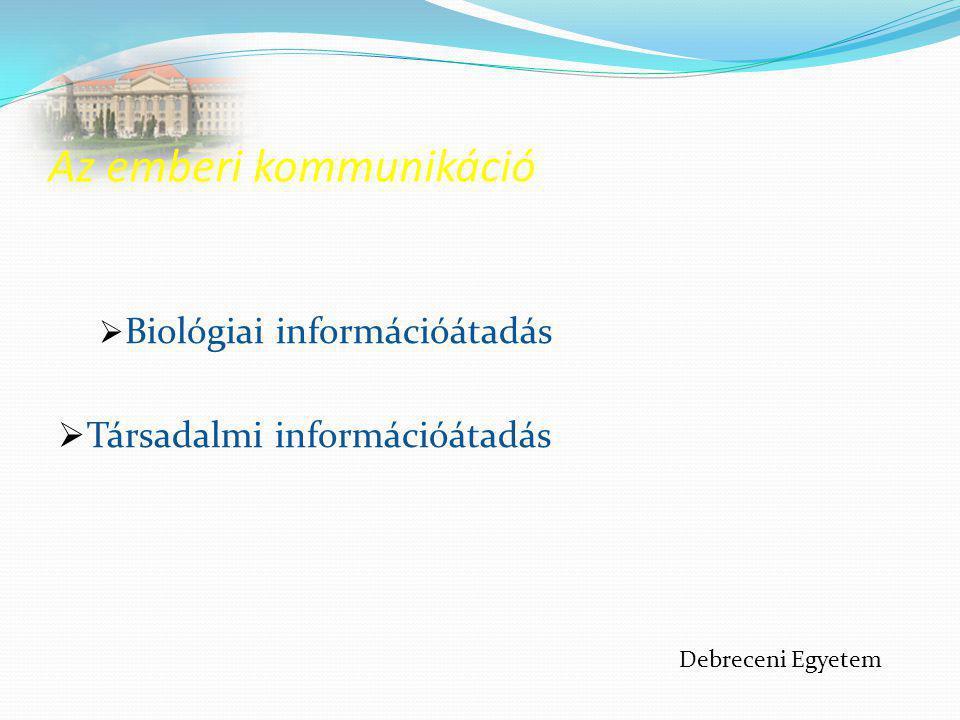 Verbális kommunikáció Alapja a nyelv, eszközei a beszéd és az írás.