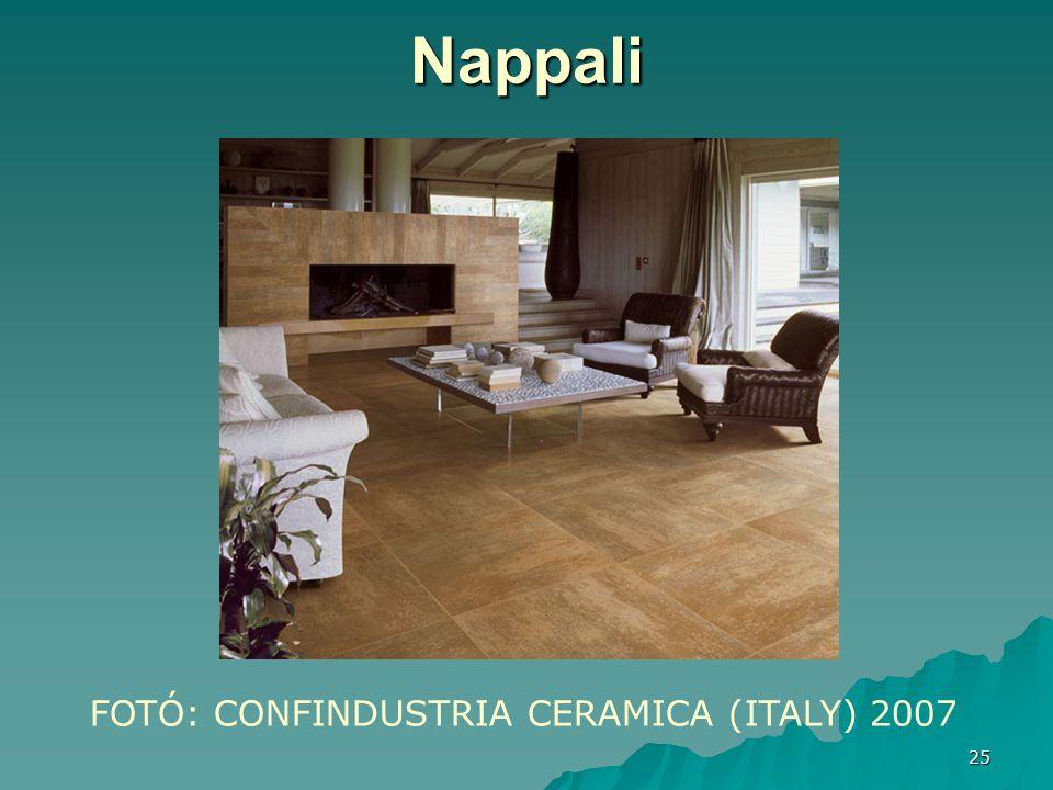 25 Nappali FOTÓ: CONFINDUSTRIA CERAMICA (ITALY) 2007