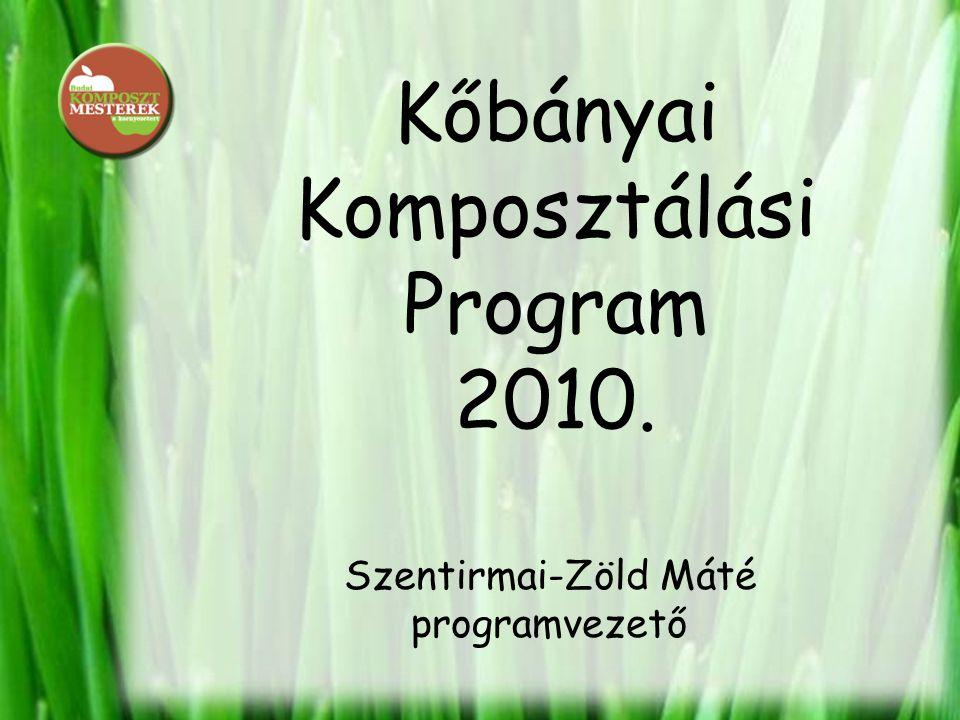 Kőbányai Komposztálási Program 2010. Szentirmai-Zöld Máté programvezető