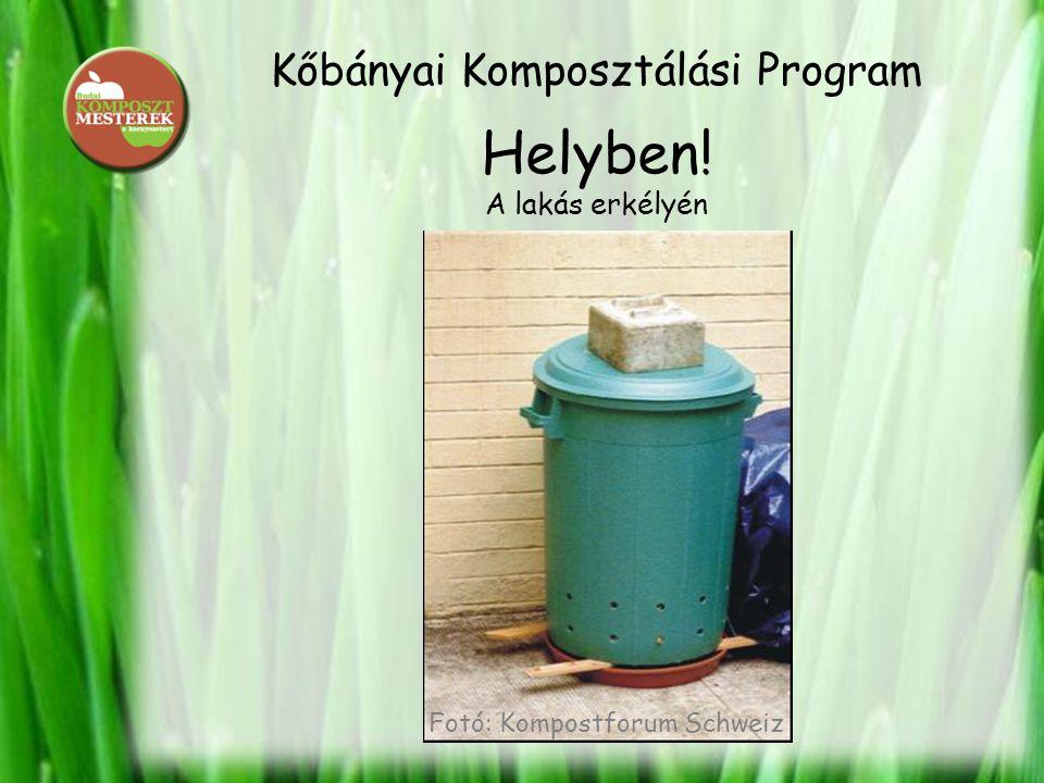 Kőbányai Komposztálási Program Helyben! A lakás erkélyén Fotó: Kompostforum Schweiz