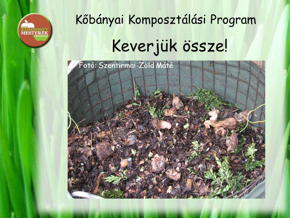 Kőbányai Komposztálási Program Keverjük össze! Fotó: Szentirmai-Zöld Máté