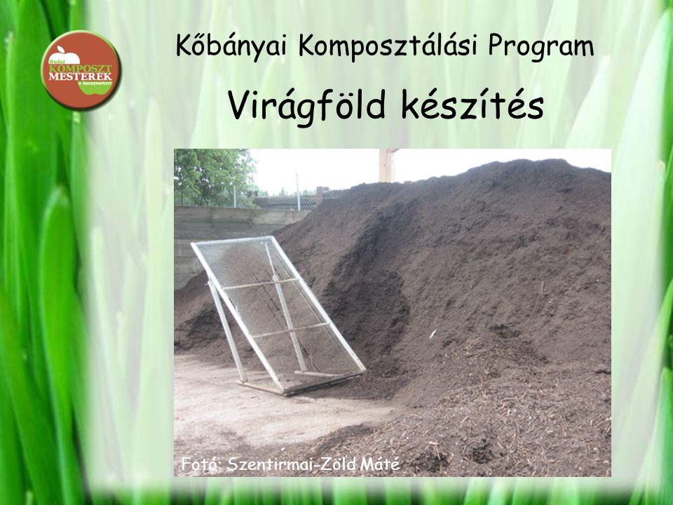 Kőbányai Komposztálási Program Virágföld készítés Teljes értékű táplálék a talajnak Fotó: Szentirmai-Zöld Máté