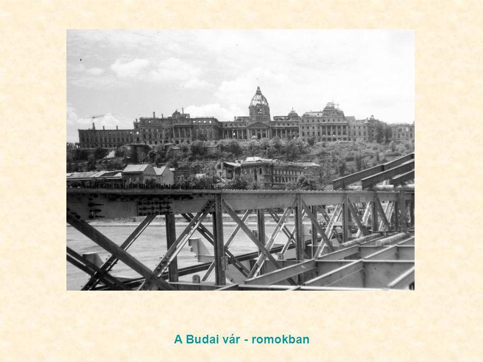 A Budai vár - romokban