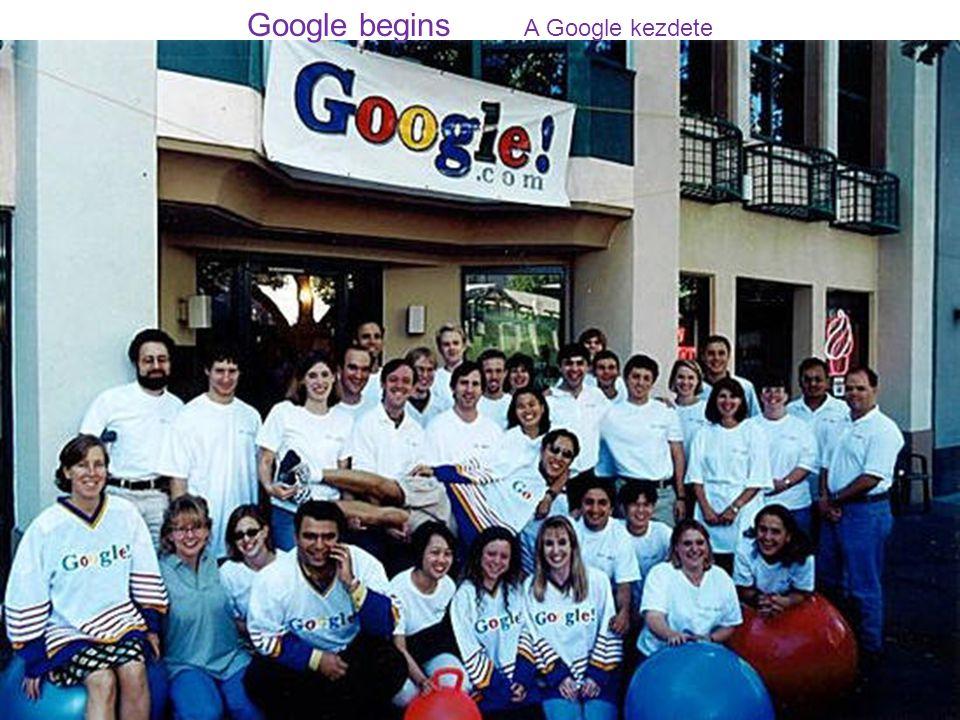 Google begins A Google kezdete