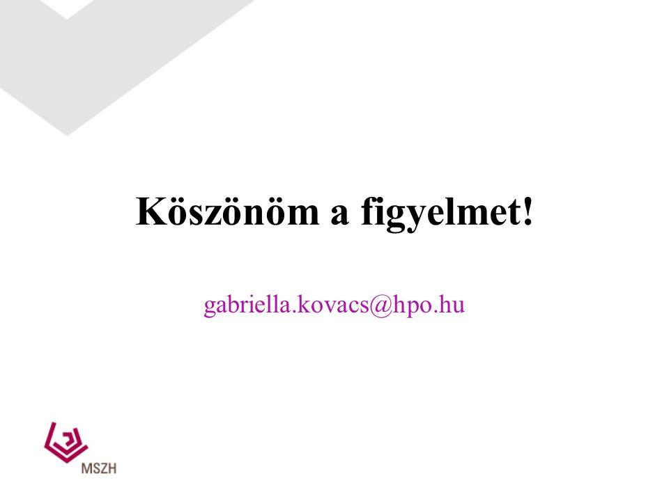 Köszönöm a figyelmet! gabriella.kovacs@hpo.hu