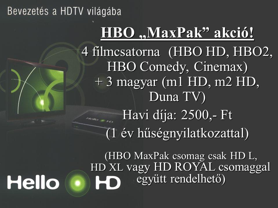 """21. oldal Magtár Stúdió - Képújság HBO """"MaxPak"""" akció! 4 filmcsatorna (HBO HD, HBO2, HBO Comedy, Cinemax) + 3 magyar (m1 HD, m2 HD, Duna TV) Havi díja"""