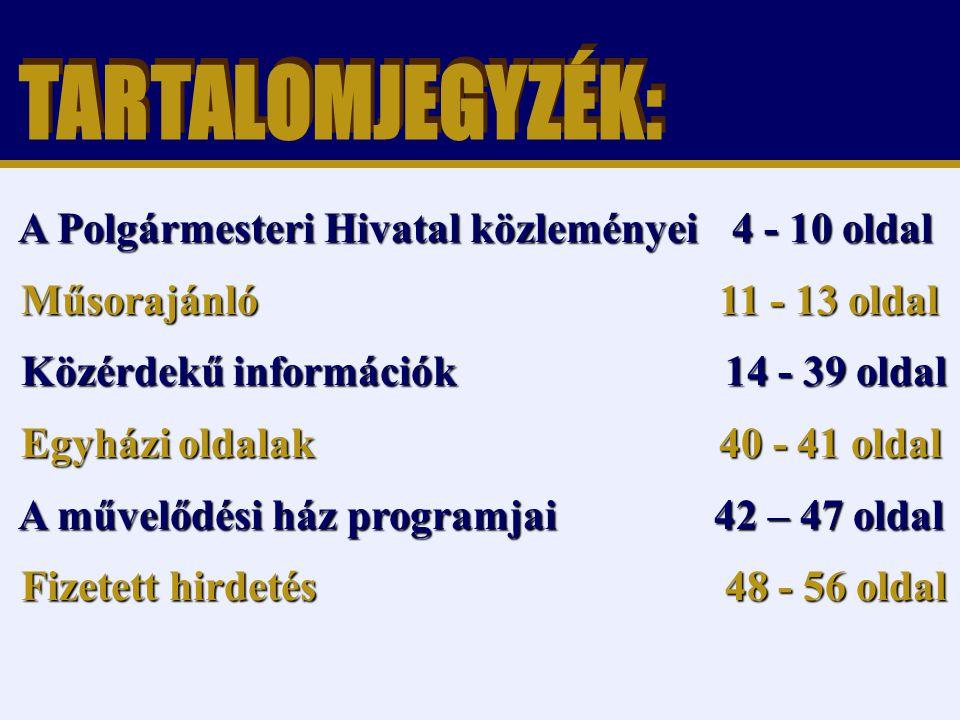 24.oldal Magtár Stúdió - Képújság Tisztelt Szülők.