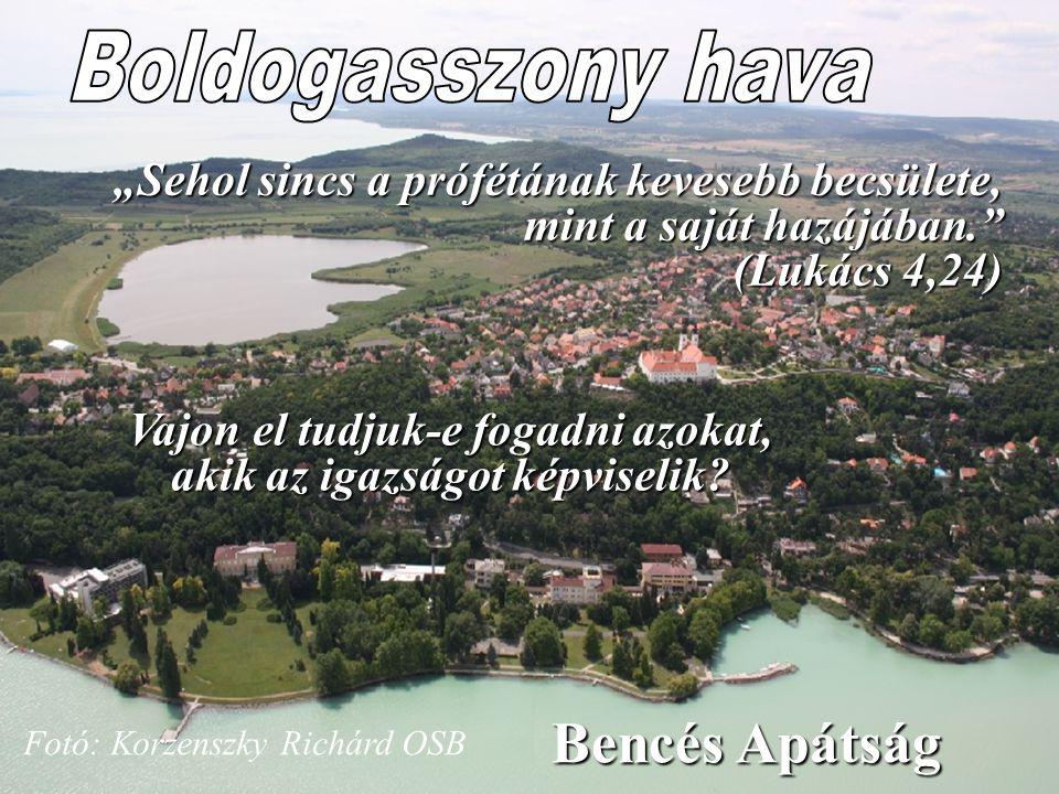 """35. oldal Magtár Stúdió - Képújság Fotó: Korzenszky Richárd OSB """"Sehol sincs a prófétának kevesebb becsülete, mint a saját hazájában."""" (Lukács 4,24) B"""