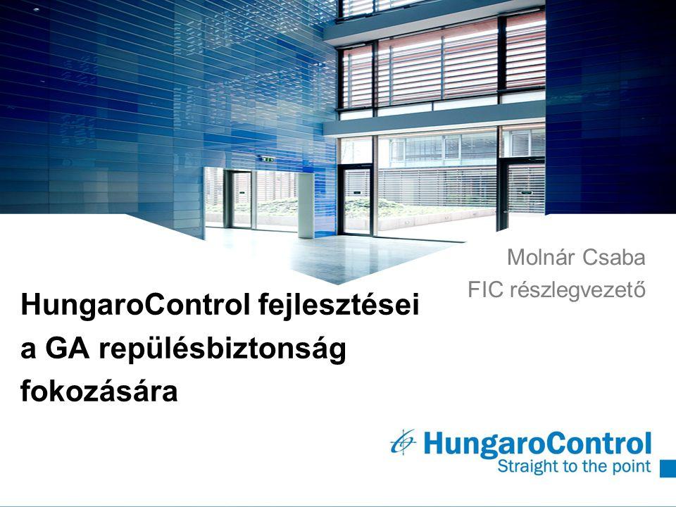 ~ HungaroControl fejlesztései a GA repülésbiztonság fokozására Molnár Csaba FIC részlegvezető