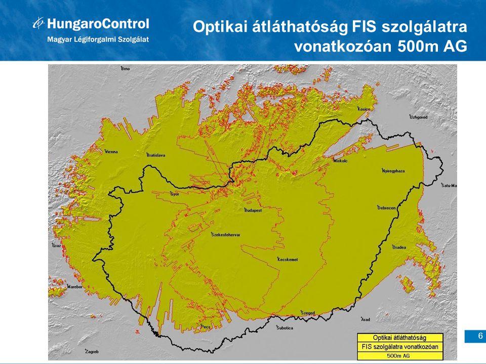 6 Optikai átláthatóság FIS szolgálatra vonatkozóan 500m AG