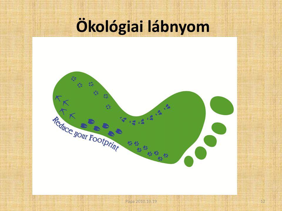 Ökológiai lábnyom 12Pápa 2010.10.19