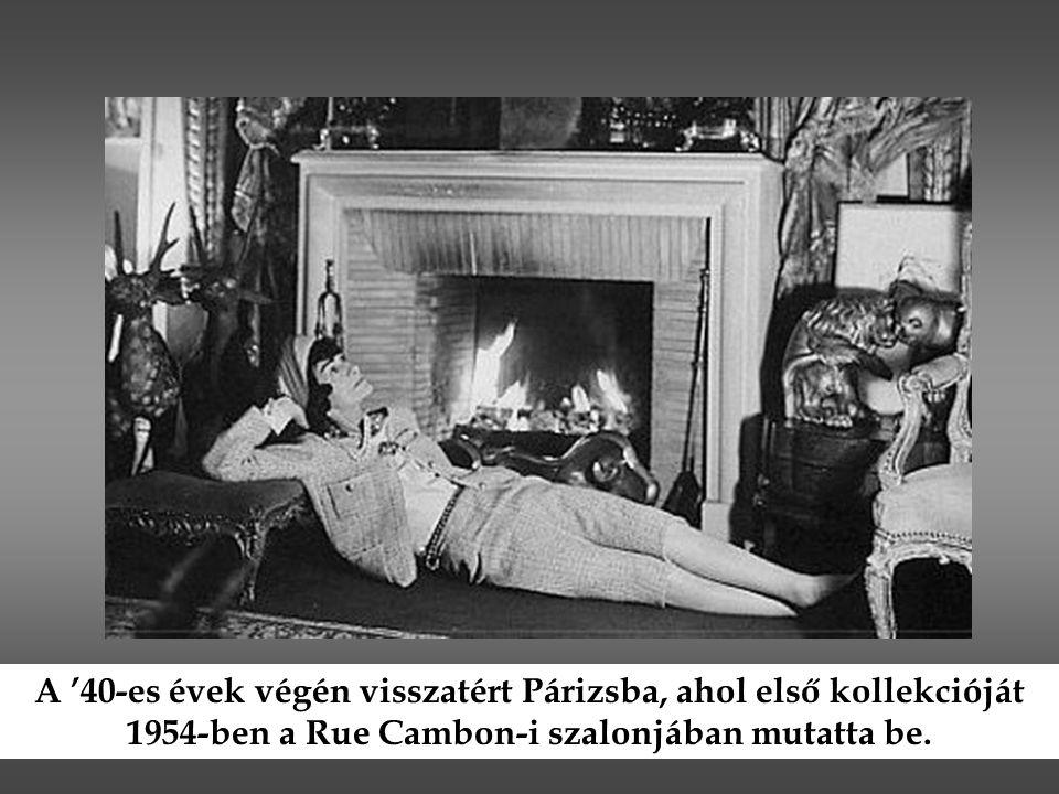 A '40-es évek végén visszatért Párizsba, ahol első kollekcióját 1954-ben a Rue Cambon-i szalonjában mutatta be.