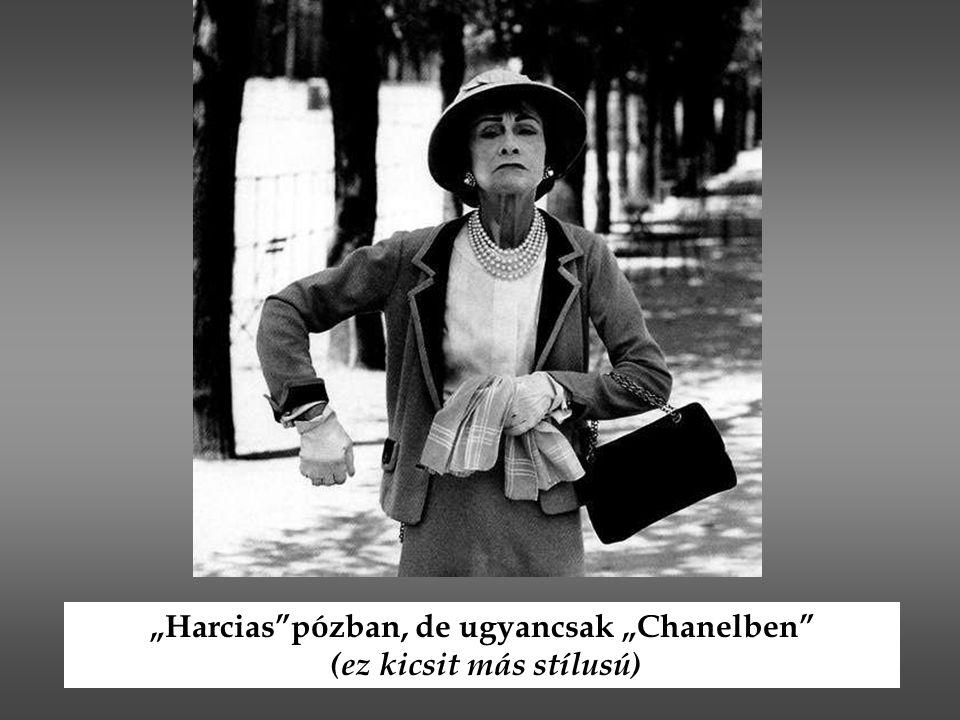 """""""Harcias""""pózban, de ugyancsak """"Chanelben"""" (ez kicsit más stílusú)"""