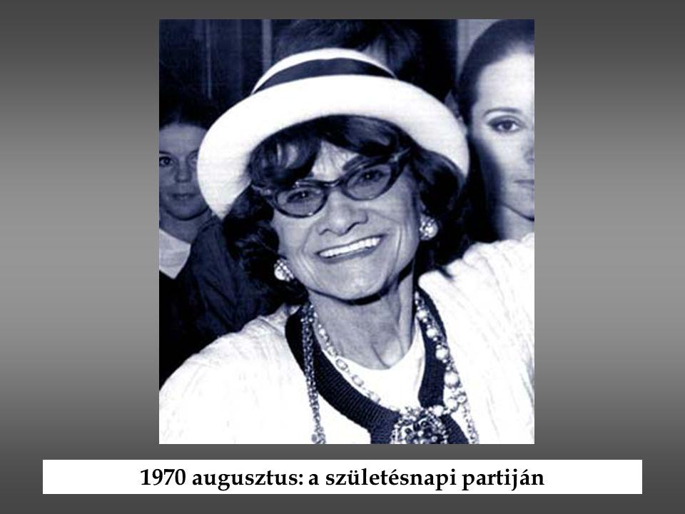 1970 augusztus: a születésnapi partiján