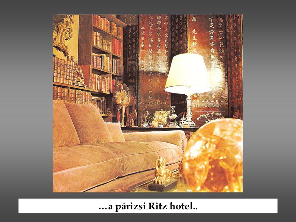 …a párizsi Ritz hotel..