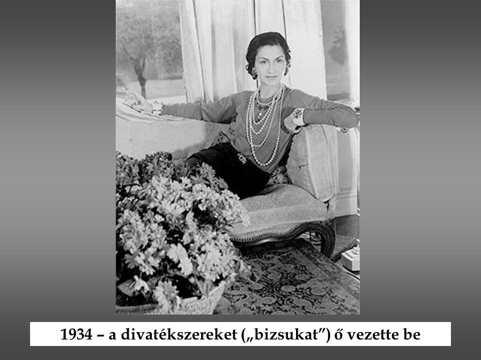 """1934 – a divatékszereket (""""bizsukat"""") ő vezette be"""