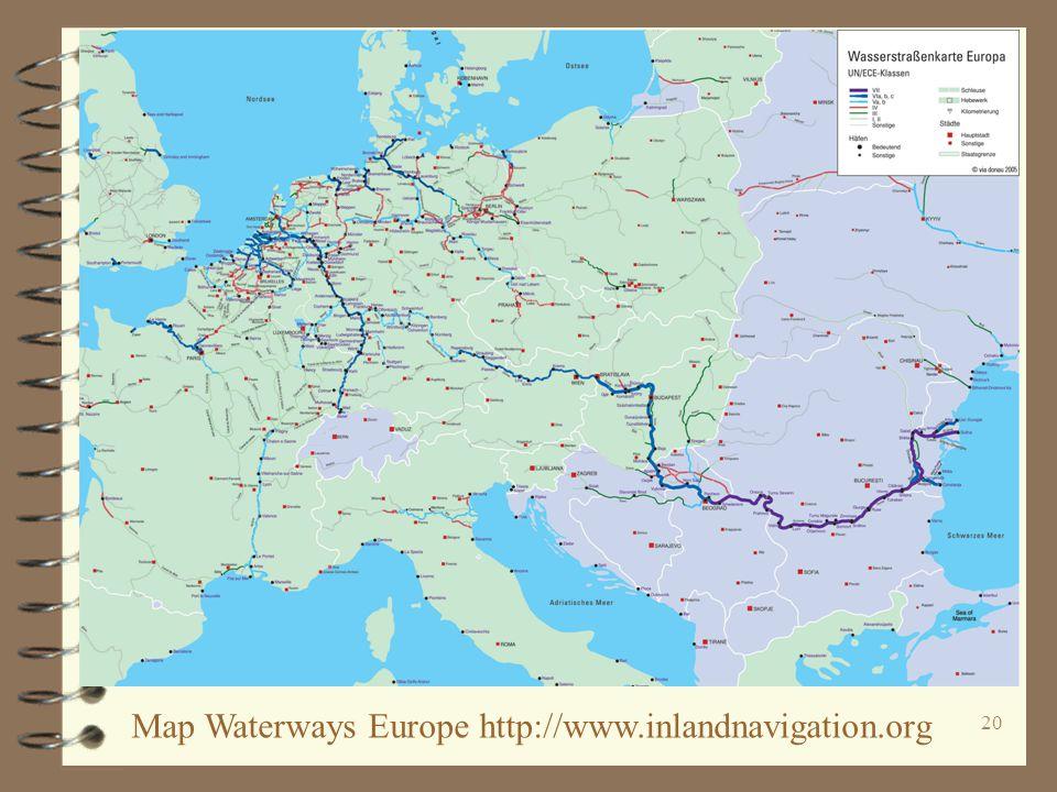 20 Map Waterways Europe http://www.inlandnavigation.org