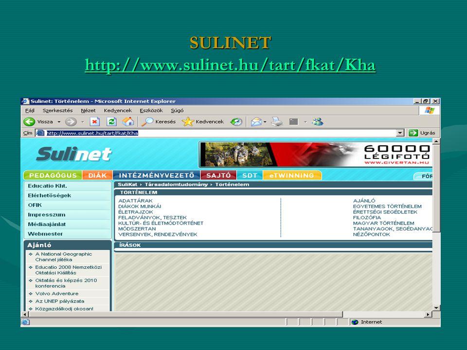 SULINET http://www.sulinet.hu/tart/fkat/Kha http://www.sulinet.hu/tart/fkat/Kha