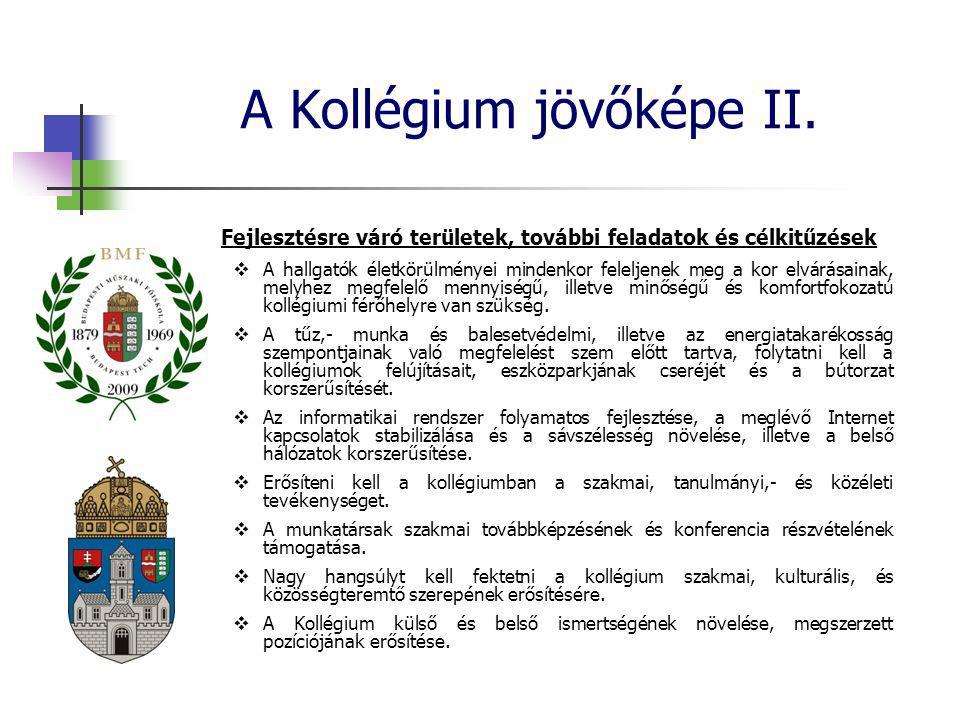 A Kollégium jövőképe II.