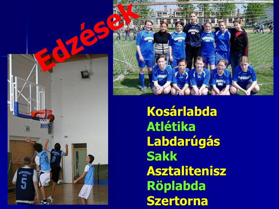 KosárlabdaAtlétikaLabdarúgásSakkAsztaliteniszRöplabdaSzertorna Edzések