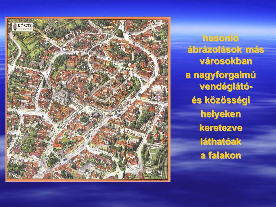 """"""" RETRO VEDUTÁK mai készítésű visszatekintő történelmi látképek Kolozsvár középkori látképe retro-festmény 2009"""