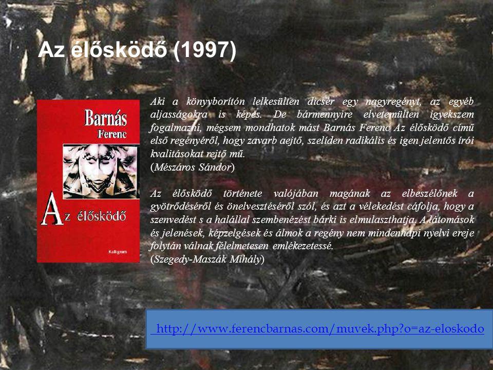 Az élősködő (1997) Aki a könyvborítón lelkesülten dicsér egy nagyregényt, az egyéb aljasságokra is képes. De bármennyire elvetemülten igyekszem fogalm