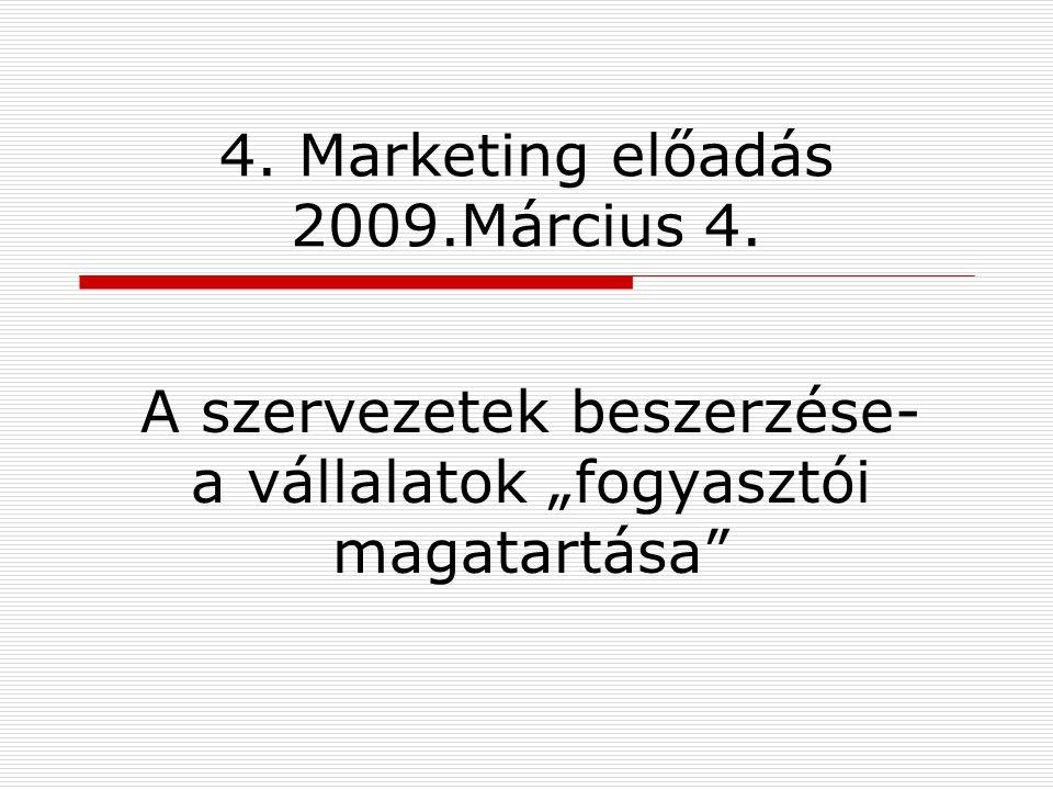 4. Marketing előadás 2009.Március 4.