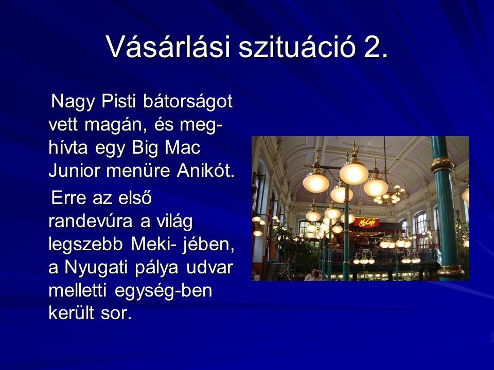 Vásárlási szituáció 1. Szabóné egy 3,6 kg- os BIOPON mosóport vásárol a nagymosás- hoz a sarki SPAR üzletben, mert a táborozásból most hazaérkezett ké