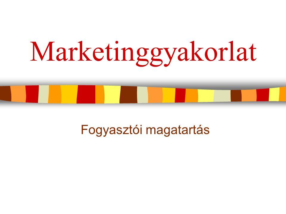 Marketinggyakorlat Fogyasztói magatartás