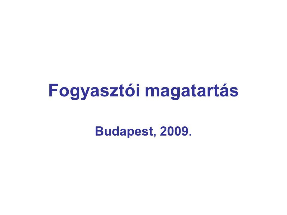 Fogyasztói magatartás Budapest, 2009.