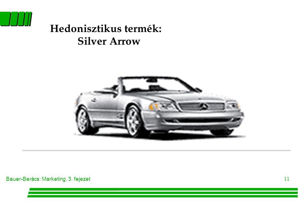 Bauer-Berács: Marketing, 3. fejezet 11 Hedonisztikus termék: Silver Arrow