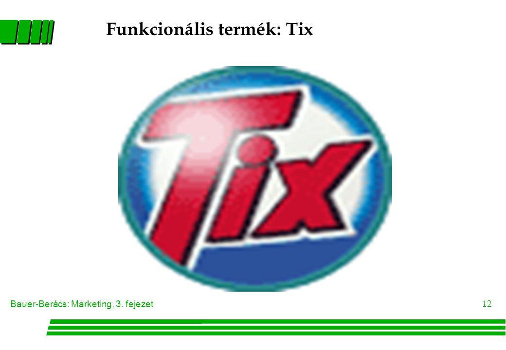 Bauer-Berács: Marketing, 3. fejezet 12 Funkcionális termék: Tix