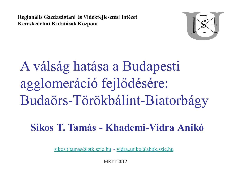 A válság hatása a Budapesti agglomeráció fejlődésére: Budaörs-Törökbálint-Biatorbágy Sikos T.