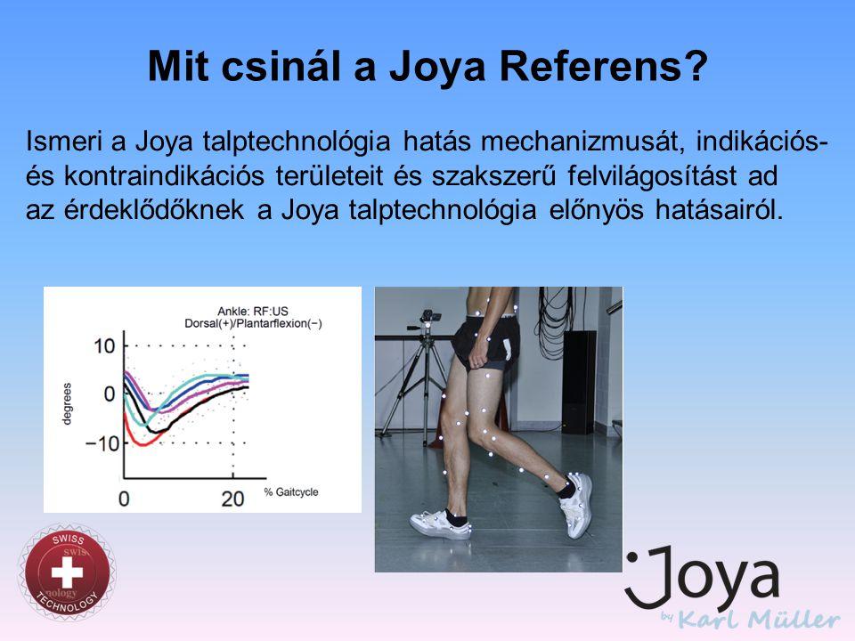 Mit csinál a Joya Referens? Ismeri a Joya talptechnológia hatás mechanizmusát, indikációs- és kontraindikációs területeit és szakszerű felvilágosítást