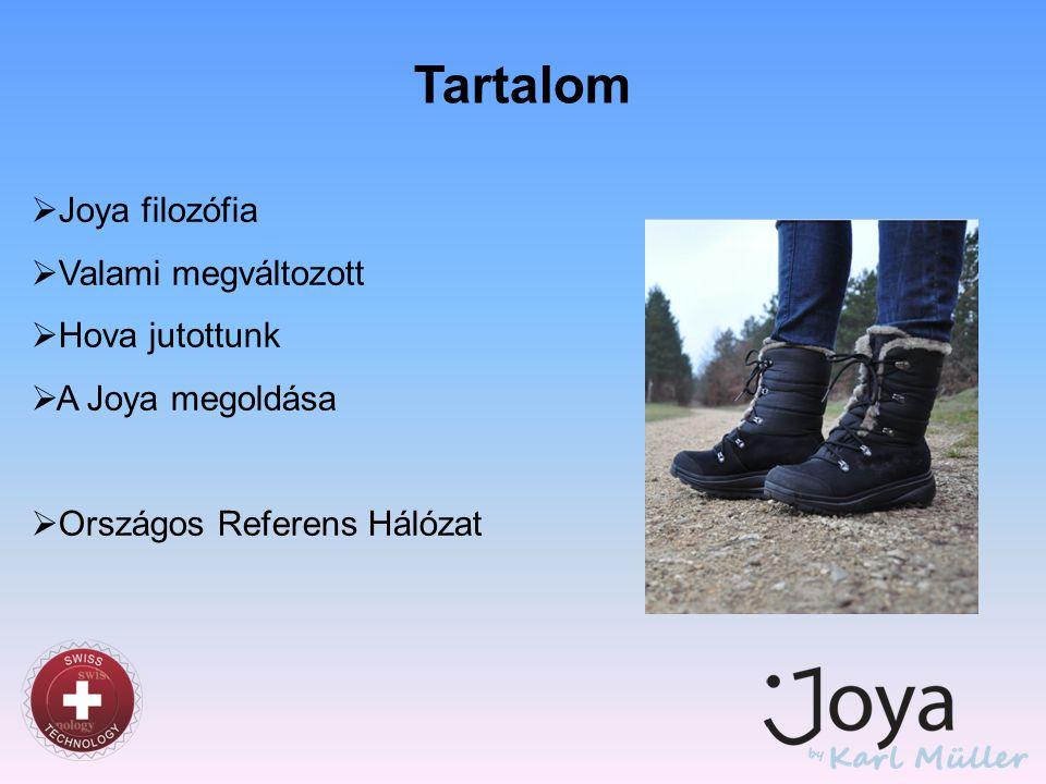 Tartalom  Joya filozófia  Valami megváltozott  Hova jutottunk  A Joya megoldása  Országos Referens Hálózat