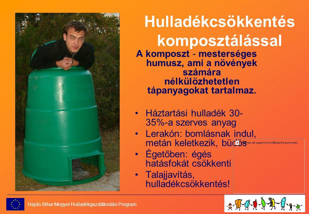 Hulladékcsökkentés komposztálással A komposzt - mesterséges humusz, ami a növények számára nélkülözhetetlen tápanyagokat tartalmaz.