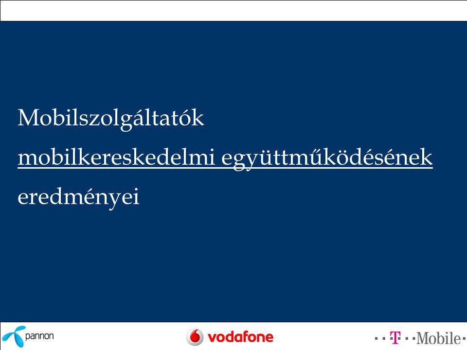 Tartalomjegyzék •Operátori összefogás •Új szereplő: Vodafone •Mobil vásárlás eredmények •Megvásárolható termékek •Szolgáltatás közös továbbfejlesztése •Közös kommunikációs kampányok •Ügyfélkör jellemzői •Növekedés üteme •Tapasztalatok összegzése •Mobil fizetés