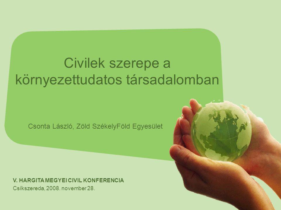 """A környezetvédelem mindenkire tartozik.A megoldásokat ne a """"zöldektől várjuk."""