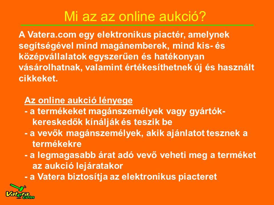 Mi az az online aukció.